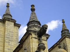 Gargoyle, Cathedral of San Salvador, Jerez de la Frontera (Stephen Walter) Tags: santiago spain camino cathedral gargoyle andalusia cdiz pilgrimage sansalvador jerezdelafrontera longdistancewalking viaaugusta
