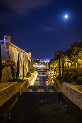 Palma night (Patinador Sagrado) Tags: bridge summer urban moon luz water night out photography born islands noche mediterranean catedral luna urbano session mallorca palma nite mediterráneo nit torrent baleares balearic torrente paseomarítimo passeigdelborn paseomallorca paseodelborn sesiónnocturna nitdepalma