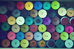 Pile (CarbonNYC [in SF!]) Tags: buttons spools rolls circles colors colorful carbonnyc carbonsf