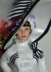 Audrey Hepburn OOAK - Eliza at Ascot (Lulemee) Tags: lady doll ooak barbie fair audrey eliza mattel hepburn doolittle repaint