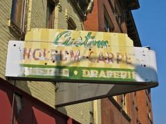 Custom Linoleum Carpet, Butte, MT (Robby Virus) Tags: sign tile carpet montana neon butte ghost former custom linoleum draperies
