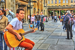 Street Player (saish746) Tags: street city sky guy london river evening march high bath gun afternoon dynamic roman guitar britain palace player queen change british guards buckingham drama past range iconic hdr