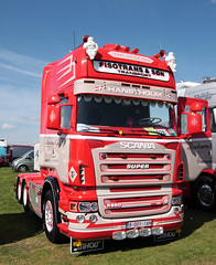 Fisotrans and Son Scania R560 V8 truck Truckfest Peterborough 2013 (davidseall) Tags: truck belgium transport large 9 son goods lorry vehicle trans left heavy hooker peterborough 001 cambridgeshire v8 operator scania haulage 1an truckfest hgv lgv r560 2013 fiso fisotrans