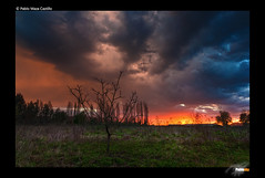 Atardecer de aquellos (Pablosky.) Tags: chile winter storm clouds atardecer flickr gallery award nubes tormenta invierno 1020mm canoneos hdr fotografo casaabandonada colorphotoaward embalseancoa rebelxsi450d blinkagain bestofblinkwinners stunningphotogpin pablomazacastillo vegaancoa