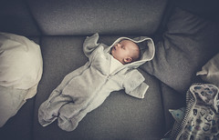 15/365 (Andreas Nordh) Tags: sleeping baby canon kid child sleep 14 wide clothes sofa 365 24mm wideangel 5dmkiii