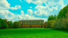 Wren Library (hipgnosis vision) Tags: old blue cambridge sky building green college nature grass architecture facade landscape outside outdoors scenery university exterior background library lawn scenic landmark architectural trinity historical wren cloudscape hedges