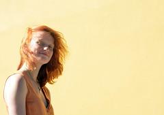 Orange (Malin_eide) Tags: summer portrait orange girl fashion norway magazine photography 50mm ginger nikon pastel documentary curls trondheim amateur d5200 rastlaus