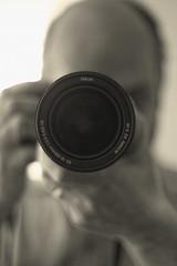 Ready, Set, Click! (flashfix) Tags: camera portrait bw ontario canada blur canon lens 50mm mono nikon photographer bokeh ottawa grain 1958 noise hdr 2014 runningman blackandwhiteportrait softexposure 18300mm intentionalnoise 60d canaon60d 2014inphotos april262014 ringblingbokeh
