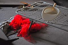 Estrema sintesi (♥iana♥) Tags: red net rosso tulle velo tutu pala rete cittàfantasma apicevecchia
