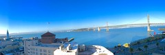 Bay Bridge - Panoroma (hydstock) Tags: sanfrancisco sfo clocktower baybridge iphone6plus