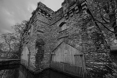Wray Castle Boat House (ian.williams040) Tags: trees blackandwhite green water monochrome clouds rural landscape ambleside windermere windemere thelakedistrict ultrawideangle sonya6000 canonefs1018mm