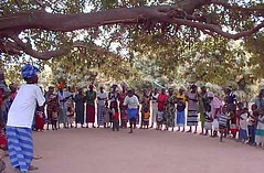 Village ladies dancing, Gambia