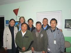 Doma Tshering Sherpa, Lisa Choegyal, AngRita Sherpa, Namgyal Zangbu Sherpa (Doma's husband), Dr Hum Gurung, Dr Ghana Shyam Gurung, Ujjwal Meghi (Gurung)