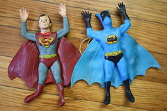 Superman And Batman Jigglers (Ben Cooper 1973) (Donald Deveau) Tags: superman superhero batman dccomics bencooper jiggler