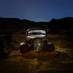 Rusty Car in the Moonlight (Jeff Sullivan (www.JeffSullivanPhotography.com)) Tags: california park blue copyright usa 3 chevrolet jeff night canon photography photo twilight state mark united iii may sierra historic chevy workshop hour 5d bodie states sullivan bridgeport eastern 1937 2014 easternsierra monocounty bodiestatehistoricpark jeffsullivan