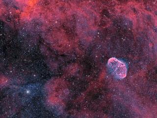 The Crescent Nebula and Soap Bubble