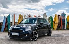 Mini Cooper S (Pierre Coroller) Tags: sky france beach car sport boats wheels bretagne mini s voiture cap r cooper bmw rims 56 coz finistere
