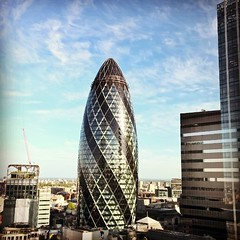 "The #gherkin is the most lovely vibrant symbol of #London • <a style=""font-size:0.8em;"" href=""http://www.flickr.com/photos/8364105@N02/17936961542/"" target=""_blank"">View on Flickr</a>"