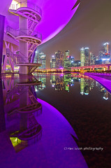 Symmetry (Ram Suson Photography) Tags: reflection museum mirror singapore nightlife centralbusinessdistrict artsciencemuseum
