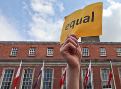 Equal & Flags: Marriage Referendum: In The Upper Yard, Dublin Castle (Skyroad) Tags: