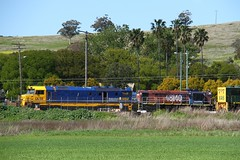 Pacific National storage yard (Aussie foamer) Tags: dl38 dlclass clyde emd australiannational nationalrail nrc pacificnational werriscreek newsouthwales train railway locomotive rpausadlclass rpausadlclassdl38