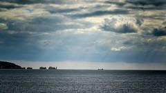 Cargo Ship Horizon (CMF1983) Tags: outdoor sky cloud sea storm moody horizon skyline hurstcastle isleofwight nikon d3300 tamron windy autumn