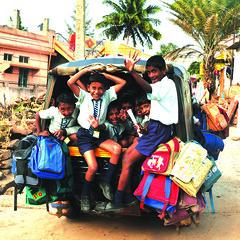 101216 Badami Pupils Transport 3_kl (BavarIndia) Tags: asia tika