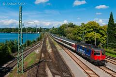 Re.421.383 SBB (Andrea Sosio) Tags: re44 re421 383 eurocity ec 195 schweizerischebundesbahnen sbb cff ffs treno train lindau hauptbahnhof bahnhof stazione bayern deutschland nikond60 andreasosio