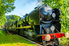 Not The Flying Scotsman (williamrandle) Tags: steamengine bewdley bridgnorth worcestershire uk summer railway steamrailway thesirkeithpark history green trees nikon d7100 taproom2470f28vc heritage outdoor locomotive train vehicle transport