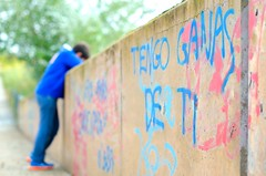 Acompame (Cristina_BL) Tags: diariodeviaje jackierueda juegolvm people amor love mensaje azul blue message