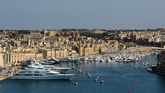 Vittoriosa and the Grand Harbour (Lawrence OP) Tags: malta vittoriosa harbour sea boats