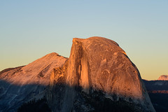 Sunset Half Dome (sbisson) Tags: yosemite california nationalpark sierras mountains autumn fall rocks wildlife beauty landscapes alpenglow halfdome sunset light red rose