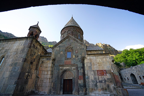 The main church of Geghard monastery, Armenia