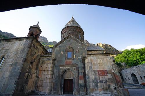 The main church of Geghard monastery, Armenia