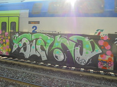 078 (en-ri) Tags: srno grigio nero verde train torino graffiti writing dks 2016