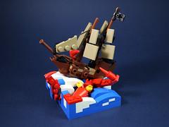 Sea monster attack-1 (LEGO 7) Tags: sea monster attack ship lego