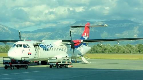 Aerospatiale / Alenia ATR.72-202 c/n 180 Air Serbia registration YU-ALN