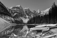 Moraine Lake B&W (jimregister813) Tags: alberta banffnationalpark morainelake canada