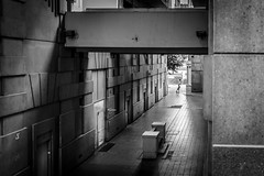 DSC_5780 (Mathieu Rougnon) Tags: noisylegrand lepalaciodabraxas ricardobofill immeuble building kid enfant nb blackandwhite paris iledefrance france nikon d800 2470mm portes doors seinesaintdenis