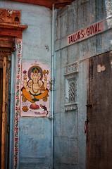Tailors-Goyal, Jaisalmer-India (MeriMena) Tags: ganesh cultures street streetphotography canon450d merimena rajasthan asia canon hinduism india jaisalmer travel elephant god hindu
