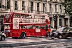 Afternoon tea bus tour (stefanobarabino) Tags: trafficlight tourism panning kensington tea street traffic hdr cab bus london canon canon1200d