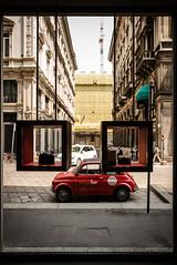 Vintage Tour Milano (-dow-) Tags: 24mm leicam leicastore milano telemetro test rangefinder rangefindercamera testshot prova vetrina shopwindow faces facce pareidolia viagiuseppemengoni car auto vintagetourmilano 24elmarit38