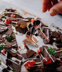 101/365 (itskatrinayu) Tags: chocolate miniature hand self portrait gummybears borrowers surreal manipulation