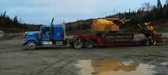 Barker Logging (jr-transport) Tags: kenworth w900 float trailer truck tigercat fellerbuncher 870 heavyhaul
