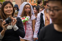 The Bride. 297/366 (jenniferdudley) Tags: brainfoundation charity brisbane bridezilla bride costume specialeffects makeup zombiemakeup zombiesforcharity brisbanezombiewalk zombiewalk zombie 23oct16 day297366 366the2016edition 3662016