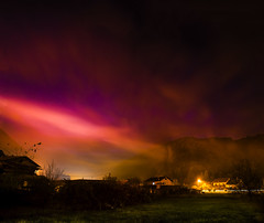 #night #colorful #vibrant #stars #clouds #landscape #nature #forest #hills #houses #grass #field #fog #longexposure #croatia (dario0806) Tags: landscape longexposure vibrant houses night clouds stars croatia forest fog nature colorful field grass hills