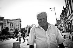 _DSC3180 (stimpsonjake) Tags: nikoncoolpixa 185mm streetphotography bucharest romania city candid blackandwhite bw monochrome sad downcast lonely oldman