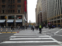 Parade Day Ghost Streets New York November 2016 (1144) (Richie Wisbey) Tags: ghost streets new york quiet closed off crosstown traffic macys polie policing sand trucks cops nypd guns protect serve felt safe best force earth excellent logistical nightmare empty scenes richard wisbey flickr usa exploring explored