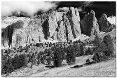 "Sella (""Deca"") Tags: dolomiti dolomites montagna mountain biancoenero blackandwhite monocromatico monochrome effettoir ireffect trentinoaltoadige"