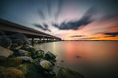 Fall in Florida (Stephen Oliveira) Tags: sunset serene outdoor sky river melbourne florida a6000 sony sonya6000 10stop ndfilter haida sigma1020 1020 eaugallie melbourneflorida spacecoast